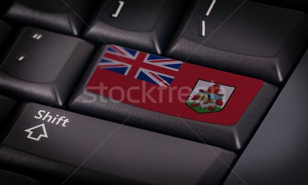 Zászló billentyűzet gomb terv laptop technológia Stock fotó © michaklootwijk