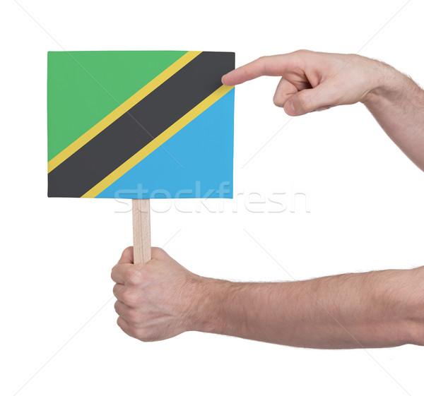 El küçük kart bayrak Tanzanya Stok fotoğraf © michaklootwijk