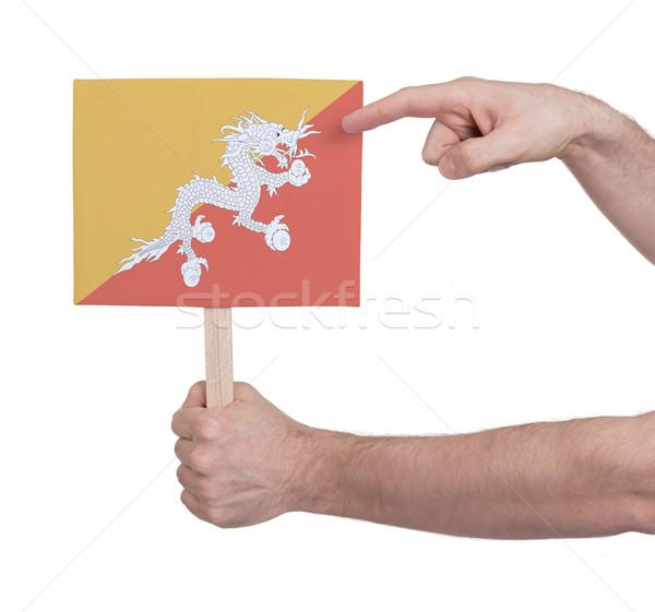 Mão pequeno cartão bandeira Butão Foto stock © michaklootwijk