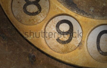 Close up of Vintage phone dial - 6 Stock photo © michaklootwijk
