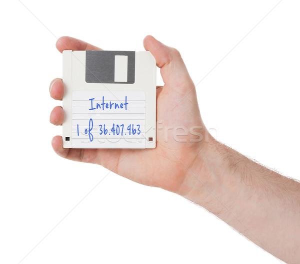 Stockfoto: Schijf · verleden · geïsoleerd · witte · internet · technologie