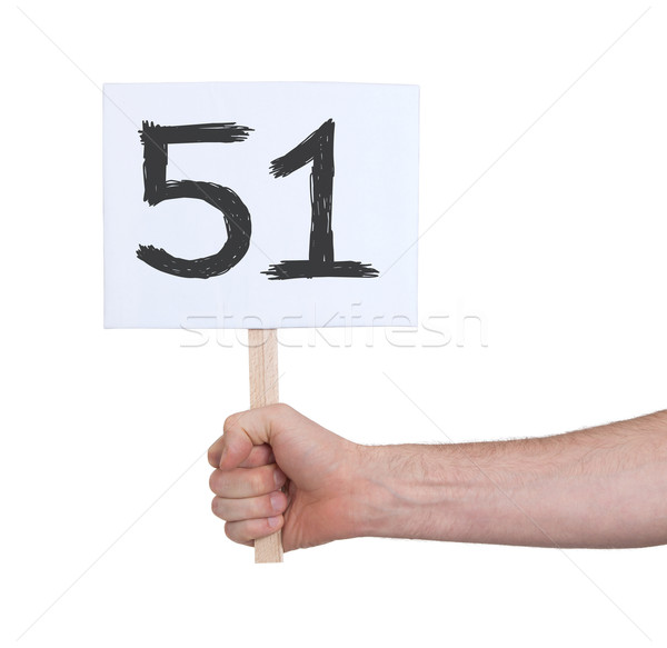 Sign with a number, 51 Stock photo © michaklootwijk