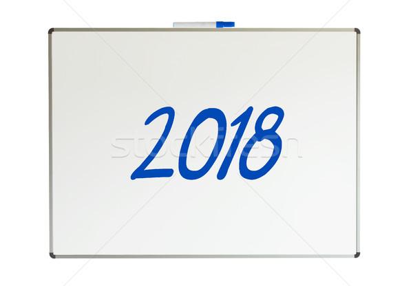 2018, message on whiteboard Stock photo © michaklootwijk