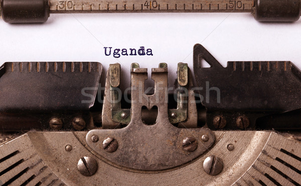 Old typewriter - Uganda Stock photo © michaklootwijk