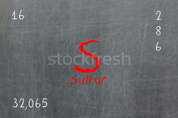Isolated blackboard with periodic table, Sulfur Stock photo © michaklootwijk