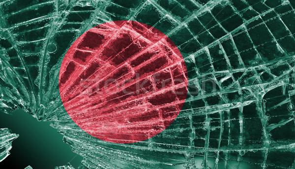 割れたガラス 氷 フラグ バングラデシュ 孤立した ガラス ストックフォト © michaklootwijk