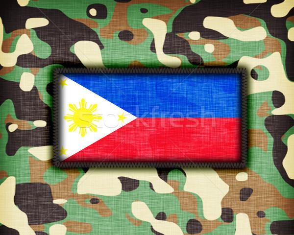 álca egyenruha Fülöp-szigetek zászló textúra absztrakt Stock fotó © michaklootwijk