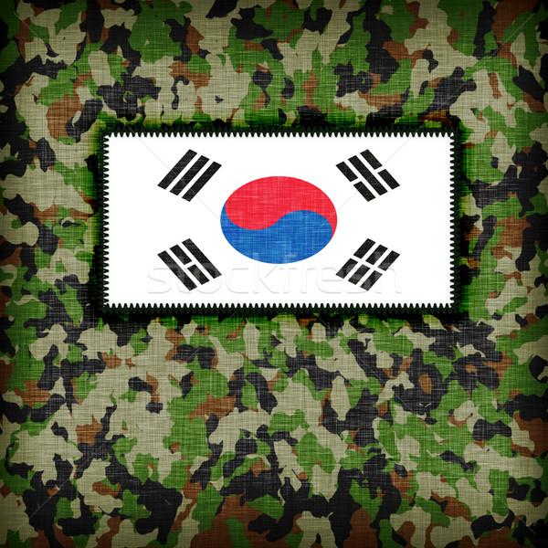 Amy camouflage uniform, South Korea Stock photo © michaklootwijk