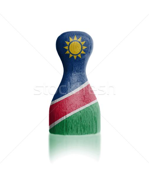 Fából készült gyalog zászló festmény Namíbia festék Stock fotó © michaklootwijk