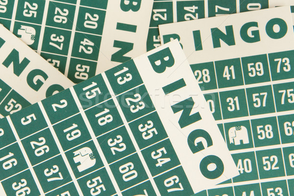 Green bingo cards isolated Stock photo © michaklootwijk