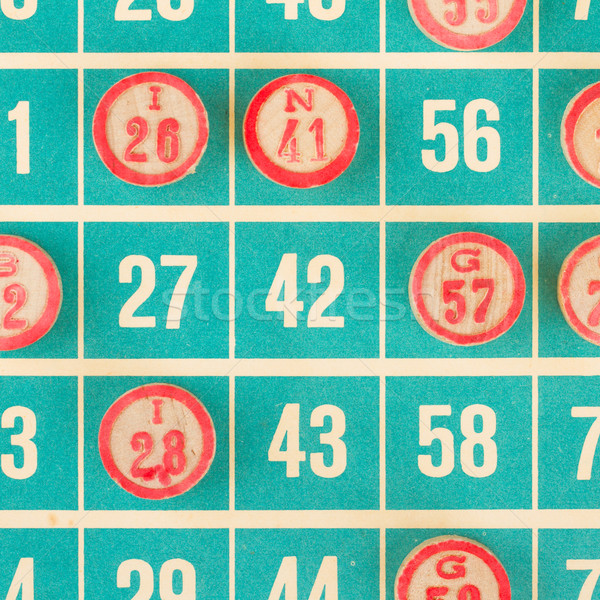 Numery używany bingo górę karty Zdjęcia stock © michaklootwijk