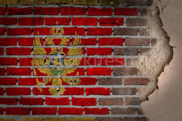 Sombre mur de briques plâtre Monténégro texture pavillon Photo stock © michaklootwijk