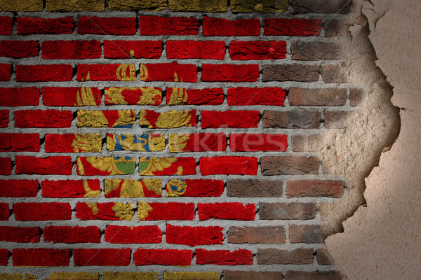 Dark brick wall with plaster - Montenegro Stock photo © michaklootwijk