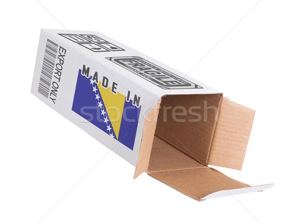экспорт продукт Босния и Герцеговина бумаги окна Сток-фото © michaklootwijk