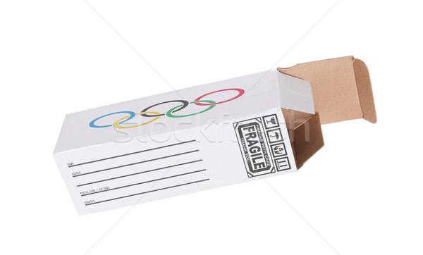 Exporter sport produit papier boîte Photo stock © michaklootwijk