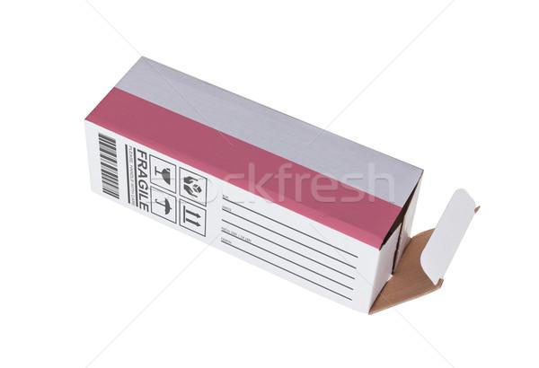 Exportar produto Polônia papel caixa Foto stock © michaklootwijk