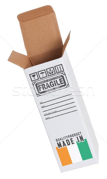 Export termék Elefántcsontpart kinyitott papír doboz Stock fotó © michaklootwijk