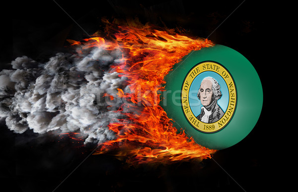 Flag with a trail of fire and smoke - Washington Stock photo © michaklootwijk