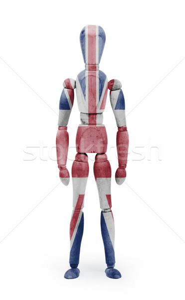 Legno figura mannequin bandiera Regno Unito bianco Foto d'archivio © michaklootwijk