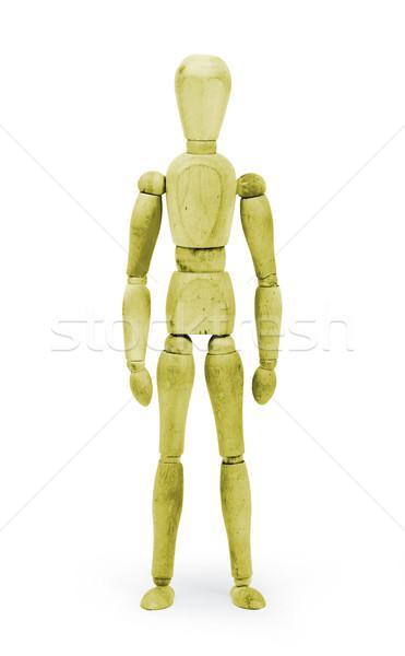 Madeira descobrir manequim amarelo branco homem Foto stock © michaklootwijk