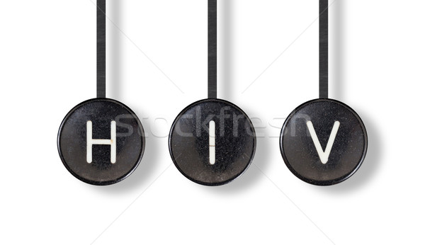 Typewriter buttons, isolated - HIV Stock photo © michaklootwijk