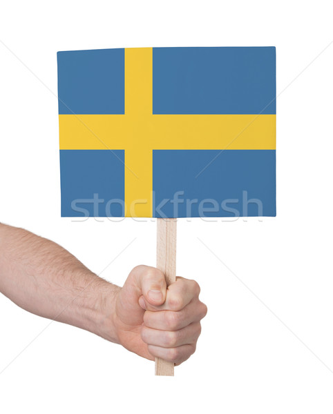 стороны небольшой карт флаг Швеция Сток-фото © michaklootwijk