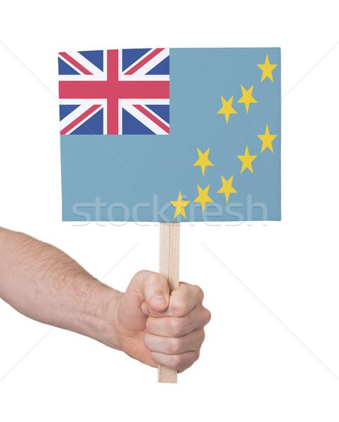 Mão pequeno cartão bandeira Tuvalu Foto stock © michaklootwijk