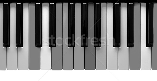 Grey piano keys Stock photo © michaklootwijk
