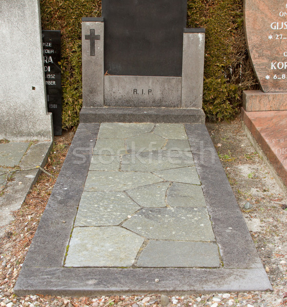Atravessar velho mármore grave holandês Foto stock © michaklootwijk