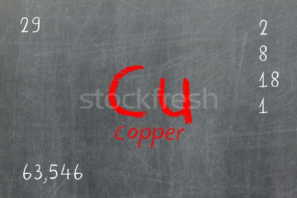 изолированный доске медь химии школы Сток-фото © michaklootwijk