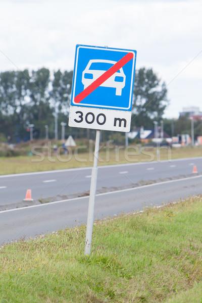 Felirat befejezés autópálya tábla autópálya Hollandia autó Stock fotó © michaklootwijk