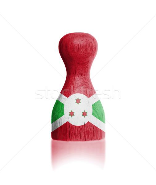 Pintura bandeira Burundi pintar Foto stock © michaklootwijk