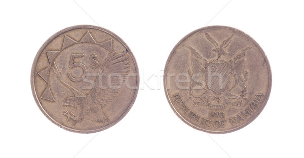 Velho cinco dólar moeda moeda isolado Foto stock © michaklootwijk
