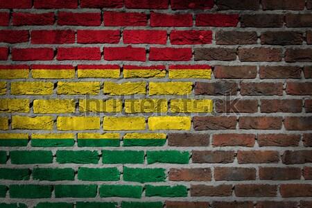Sötét téglafal jogok Hollandia textúra zászló Stock fotó © michaklootwijk