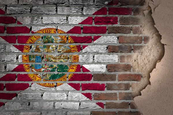 темно кирпичная стена штукатурка Флорида текстуры флаг Сток-фото © michaklootwijk