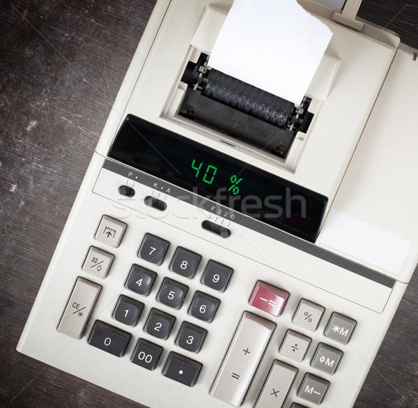Oude calculator tonen percentage 40 procent Stockfoto © michaklootwijk