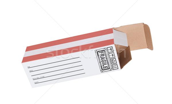 Exportar produto Áustria papel caixa Foto stock © michaklootwijk