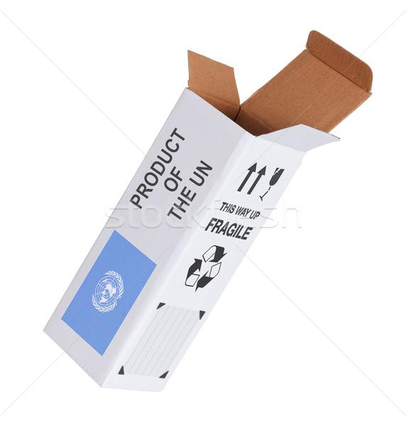 Exportieren Produkt geöffnet Papier Feld Business Stock foto © michaklootwijk