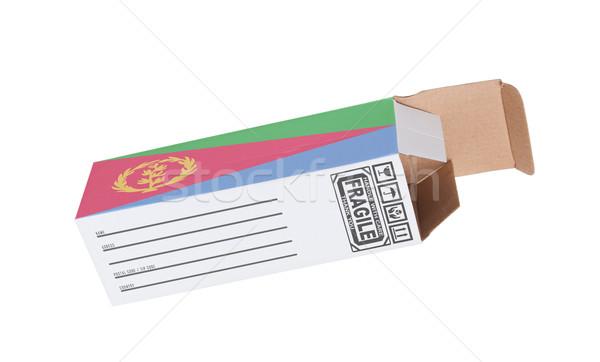 экспорт продукт Эритрея бумаги окна Сток-фото © michaklootwijk