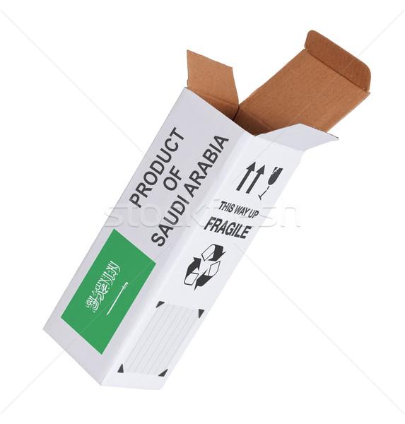 Exporter produit Arabie Saoudite papier boîte Photo stock © michaklootwijk
