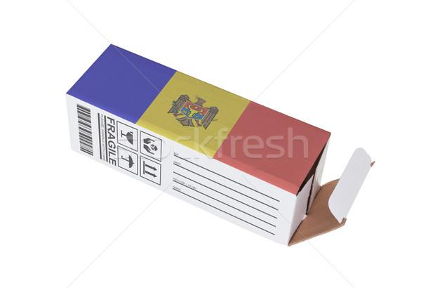 Exportar producto Moldavia papel cuadro Foto stock © michaklootwijk