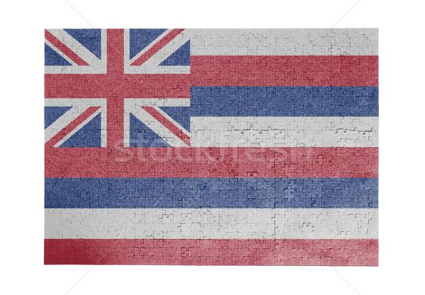 Nagy kirakós játék 1000 darabok Hawaii zászló Stock fotó © michaklootwijk