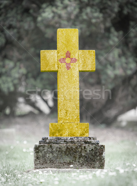 Gravestone in the cemetery - New Mexico Stock photo © michaklootwijk