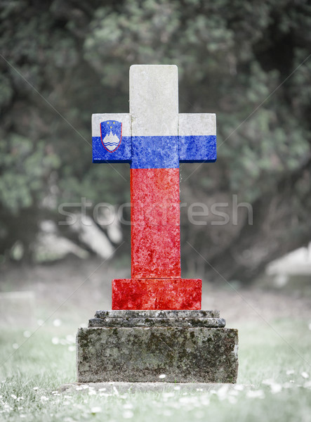 Gravestone in the cemetery - Slovenia Stock photo © michaklootwijk