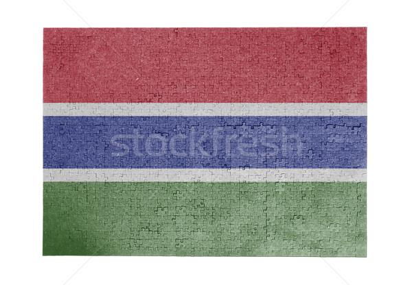 ジグソーパズル 1000年 ピース ガンビア フラグ ストックフォト © michaklootwijk