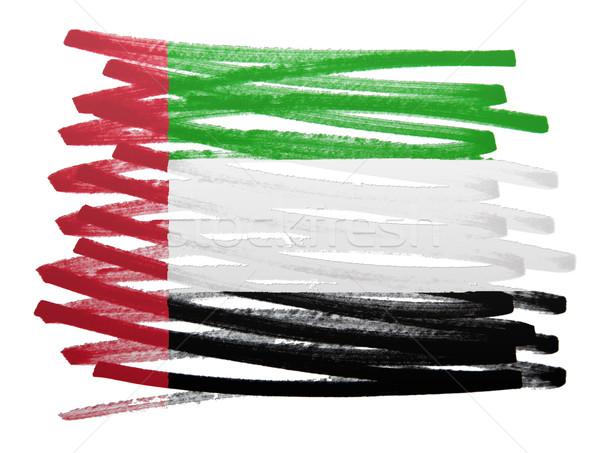 флаг иллюстрация Объединенные Арабские Эмираты пер бизнеса краской Сток-фото © michaklootwijk