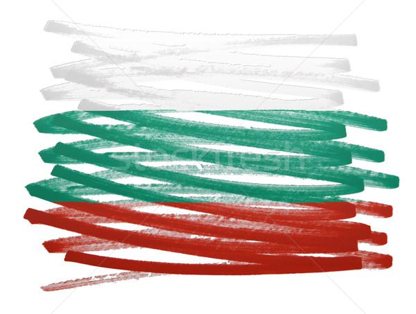 フラグ 実例 ブルガリア ペン ビジネス 塗料 ストックフォト © michaklootwijk