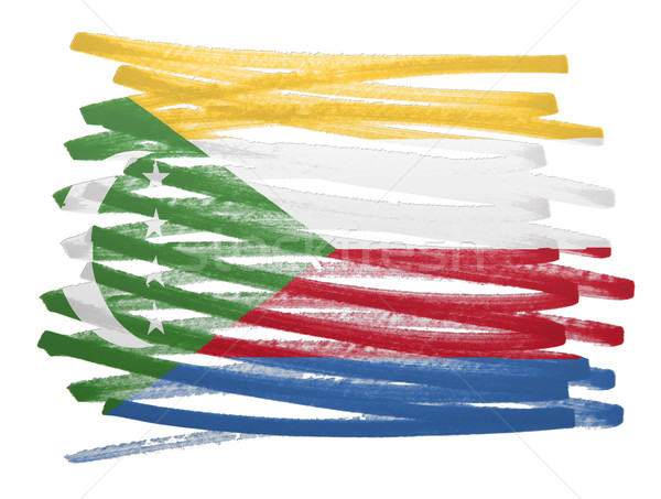 Flag illustration - Comoros Stock photo © michaklootwijk