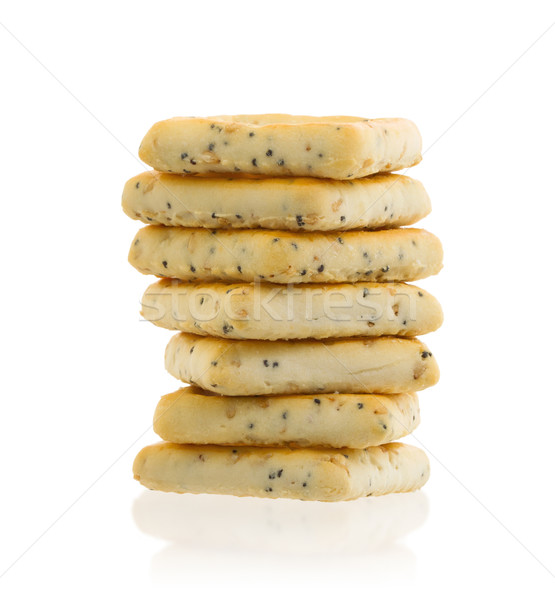 Stack of square crackers isolated Stock photo © michaklootwijk