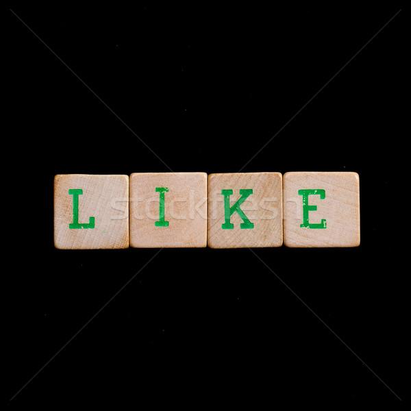Brieven zoals groene zwarte witte Stockfoto © michaklootwijk
